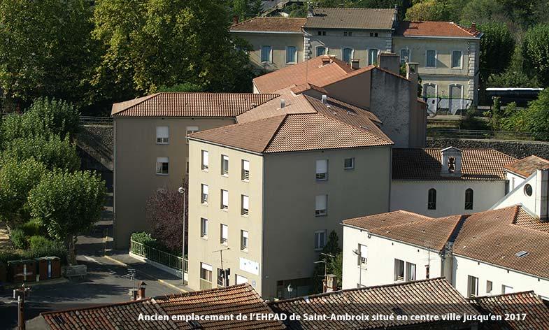 Ancien établissement de la maison de retraite en centre ville de Saint-Ambroix
